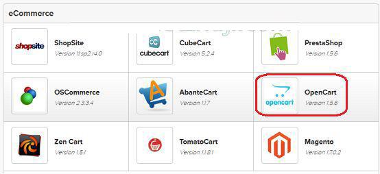 BlueHost国外空间怎么安装OpenCart