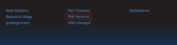 LunarPages国外空间LPCP面板修改PHP版本图文教程