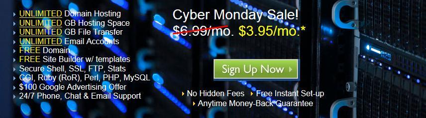 国外空间BlueHost网络星期一低价促销继续